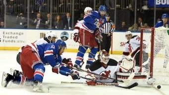 Rangers Beat Devils, 3-2, in Shootout