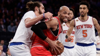 Knicks Beat Bulls with Gig Games from Anthony, Rose, Noah