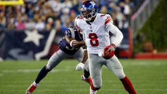 Backup QBs Have Big Night in Giants' 40-38 Win Over Pats