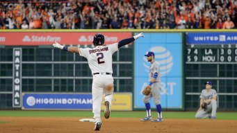 Astros Blast by Dodgers 13-12 in 10th, Lead World Series 3-2
