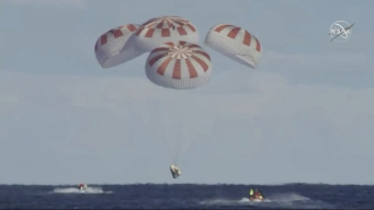 SpaceX Crew Capsule Returns to Earth From Space Station