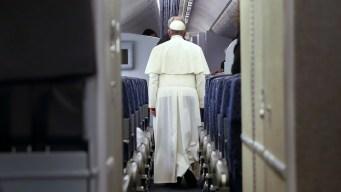 Pope Talks of Abuse & U.S. Trip en Route Home