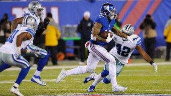 Giants Snap Cowboys' 11-Game Winning Streak 10-7