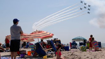 Look up! Planes Launch for Jones Beach Air Show