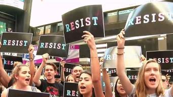 Anti-Trump Rally in NYC Over Transgender Military Ban