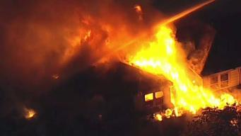 Arson Investigators Probe Massive NJ Fire