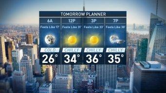 Forecast for Tuesday, December 20