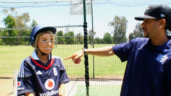 Ali Fedotowsky Plays Cricket... Straight Outta Compton