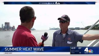 Commuters Sweat in NYC Heat Wave