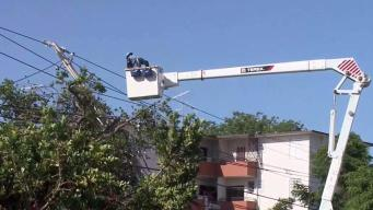 Con Edison Workers Helping to Restore Power to PR