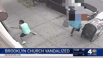 Cops Look for Man Who Vandalized Church With Bat
