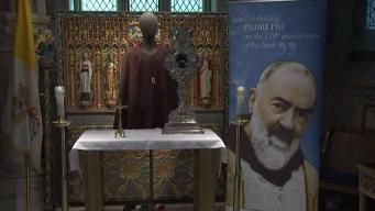 Crowds Line Up to See Padre Pio Relics