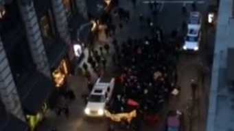 "Video Shows Protesters Chanting for ""Dead Cops"""