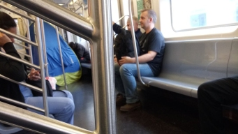 Couple Sets Up Tent on Subway, Crawl Inside, Smoke: Witness