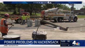 Downed Wires Cause Power Problems in Hackensack