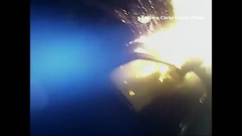 Body Cam Captures Fiery Rescue
