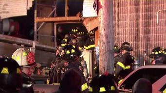 Wind-Fueled Fire Rages at Brooklyn Wood Business