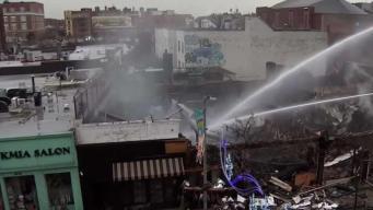Fire Tears Through Queens Strip Mall