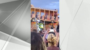 Firefighters Rescue 4 Stuck on Fire Truck-Themed Ride