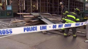 Five Hurt After Strong Winds Takes Down Scaffold in NYC