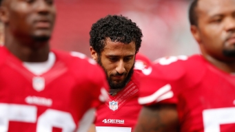 49ers QB Kaepernick Refuses To Stand During National Anthem