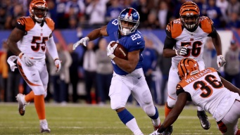 Giants Lean on Running Game to Best the Bengals