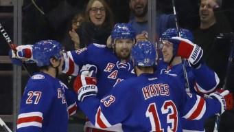 Rangers Beat Hurricanes, 3-2