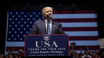 Trump Returns to Campaign Trail in Louisiana, Michigan