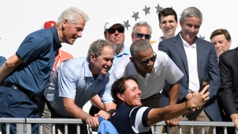 Phil Mickelson Scores Epic Selfie With 3 Presidents