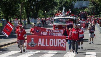 Capitals' Stanley Cup Victory Parade Rolls Through DC