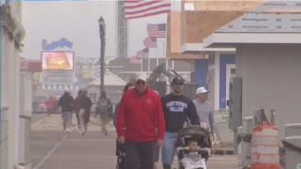 Gloomy Weather Dampens Memorial Day on Jersey Shore