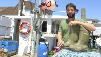 Lobsterman Shares his Tale of 12 Hours Floating on his Boots
