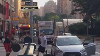 MTA Worker Swings Machete in Brawl on Broadway: Police