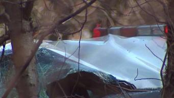 Man Arrested in Cop Car Crash Pleads Not Guilty