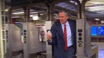 Mayor Rides the Subway to Promote Congestion Pricing