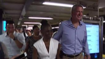 Mayor de Blasio and MTA Chairman in Funding Fight