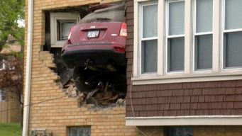 Jeep Goes Airborne, Slams Into Man's 2nd-Floor Living Room