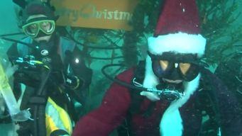 Annual Tradition of a Scuba Diving Santa