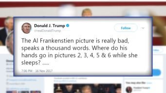 Trump Comments on Franken Allegations, But Not Moore