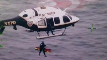 NYPD Rescues Man Who Fell Off Cargo Ship