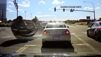 Officer Avoids Car Crash by Seconds