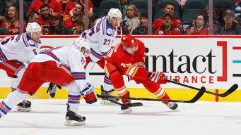 High-Scoring Rangers Beat Calgary Flames 4-1