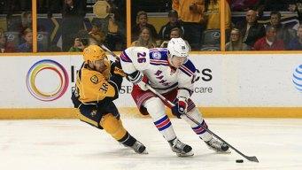 Vesey, Zuccarello Score in Shootout, Rangers Beat Preds 2-1