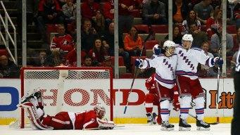 Miller's Goal Gives Rangers 1-0 Win Over Detroit in OT