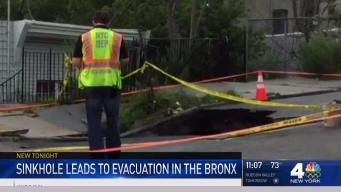 Sinkhole Forces Evacuations in Bronx