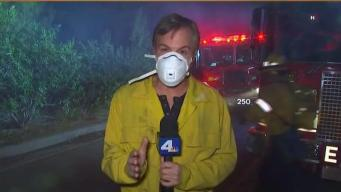 Skirball Fire Remains A Threat in Bel-Air