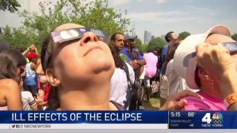 Some Eclipse Gazers Report Ill Effects