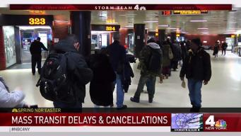 Storm Brings Mass Transit Delays and Cancellations