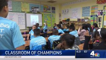 Students Get Boost From Olympic Champion