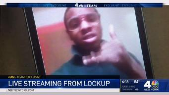 Teen Livestreams from NYC Lockup
